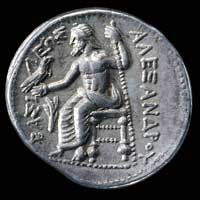 Silver tetradrachm of Alexander the Great (Amphipolis mint, 336-323)