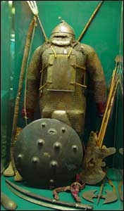 Warrior's armour of Temur's time