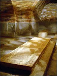 The tomb of Temur in Gur-Emir Mausoleum