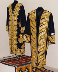 Gold-embroidery men's national dress