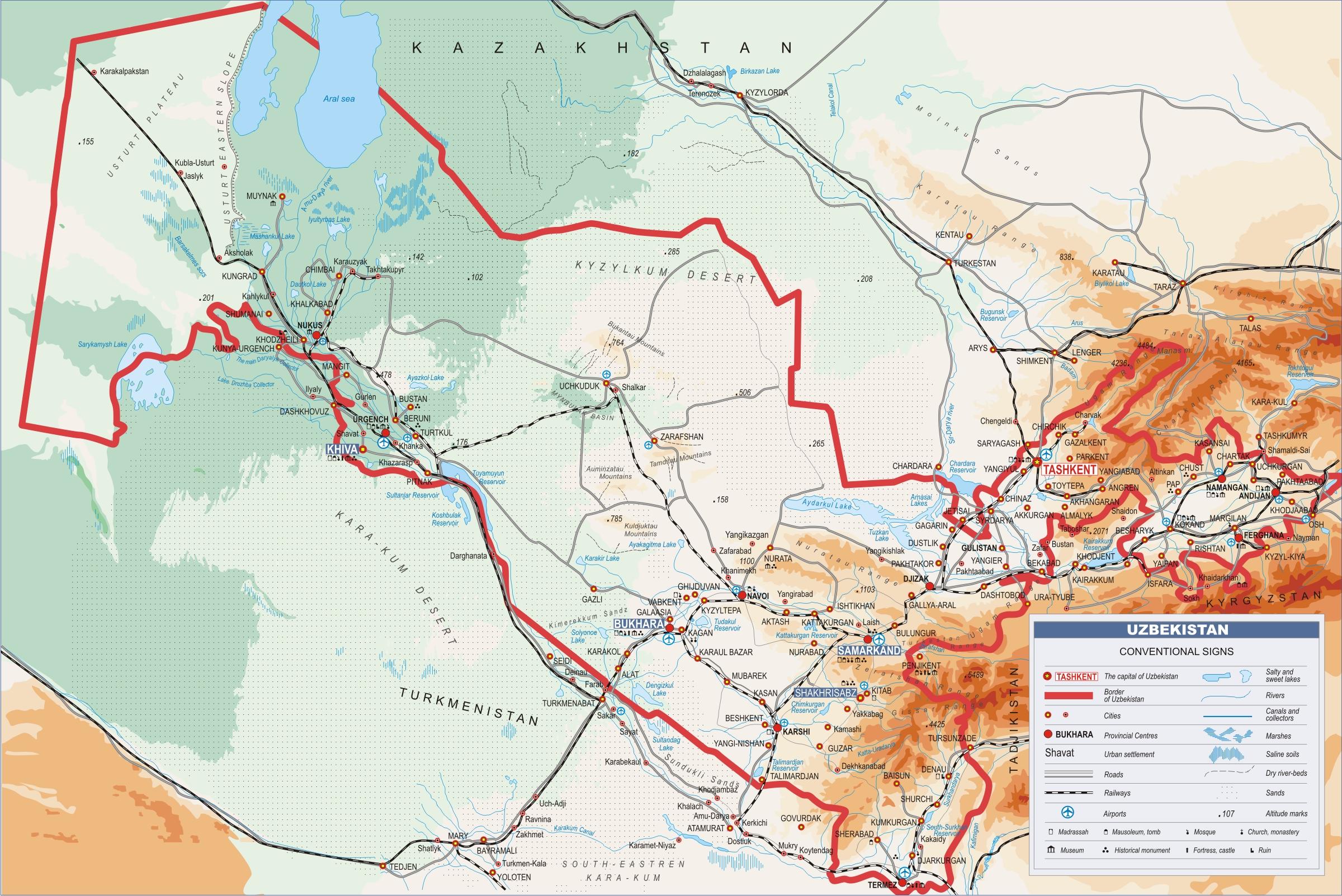 Usbekistan Alte Karte
